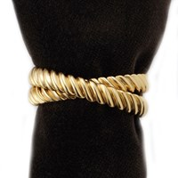 L'objet Deco Twist Napkin Rings Set Of 4 Gold