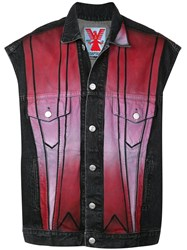 Adaptation Contrast Panel Denim Gilet Black