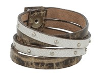 Leather Rock B453 Taupe Bracelet