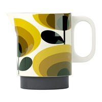 Orla Kiely Milk Jug 70S Yellow Oval Flower