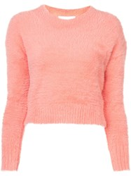 Mcguire Denim Faux Fur Sweater Pink And Purple