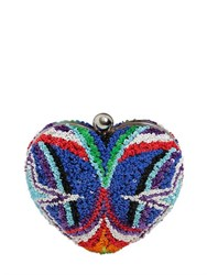 Manish Arora Sequined Heart Clutch