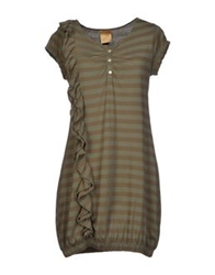 Guardaroba Short Dresses Military Green