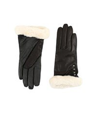 Ugg Art Deco Stud Smart Gloves W Short Pile Trim Black Extreme Cold Weather Gloves