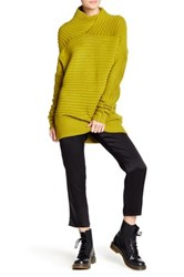 Tov Oversized Rib Knit Sweater Tunic Yellow