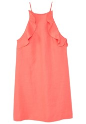 Mango Soleil Summer Dress Coral Red