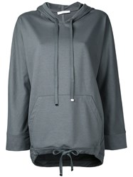 Astraet Drawstring Hoodie Women Cotton One Size Grey