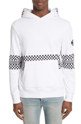 Ovadia And Sons 'S Type 01 Check Print Hoodie White Black