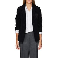 Undercover We Are Infinite Patch Wool Blend Sherpa Blazer Navy