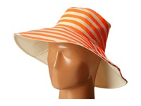 Hat Attack Canvas Reversible Sunhat Neon Orange Stripe Traditional Hats Pink