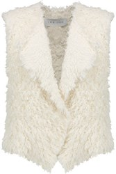 Iro Bellay Fringed Cotton Blend Cardigan Ecru