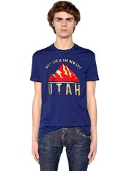 Dsquared Utah Printed Cotton Jersey T Shirt