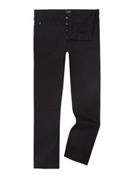 Armani Jeans J21 Regular Fit Gaberdine Trousers Black