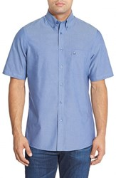 Men's Nordstrom Men's Shop Regular Fit Short Sleeve Sport Shirt Blue Bell