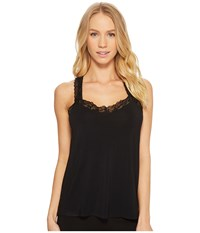 Pj Salvage P.J. Lily Leisuree Lace Tank Top Black Sleeveless