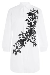 Dsquared2 Cotton Shirt Dress With Sequin Embellishment White