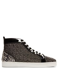 Christian Louboutin Louis Orlato High Top Patent Leather Trainers Black Multi