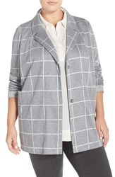 Plus Size Women's Nydj Windowpane Check Jacket