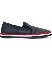 Thom Browne Waxed Canvas Espadrille Trainers Navy