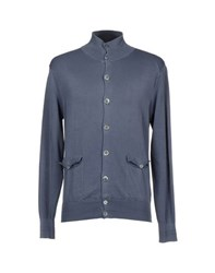 Private Lives Knitwear Cardigans Men Slate Blue