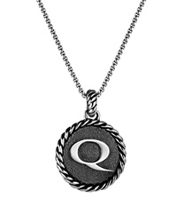 David Yurman Cable Collectibles Initial Charm Q