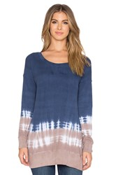 Splendid Kaleidoscope Scoop Neck Sweater Blue
