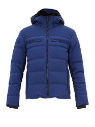 Fusalp Whistler Hooded Quilted Down Ski Jacket Blue