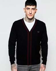 Fred Perry Cardigan With Tipping Black