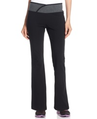 Style And Co. Sport Bootcut Yoga Pants Black Charcoal Heather