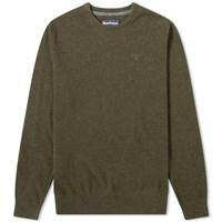 Barbour Essential Lambswool Crew Knit Green