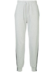 The Upside Side Stripe Track Trousers Grey