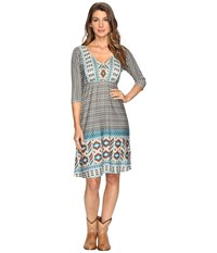 Roper 0515 Aztec Border Print Dress Brown Women's Dress