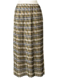 Manning Cartell Pleated Houndstooth Skirt 60