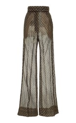 J. Mendel Wide Leg Metallic Pant Black