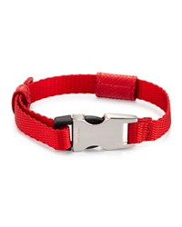 Prada Men S Nylon Seatbelt Buckle Bracelet Red