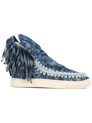 Mou Eskimo Sneaker Women Cotton Rubber 38 Blue