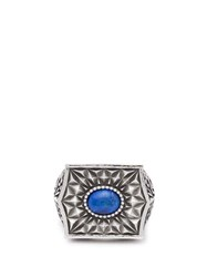 Emanuele Bicocchi Sovereign Stone Sterling Silver Ring Silver