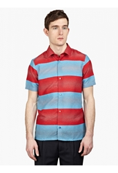 Raf Simons Men's Striped Textured Shirt