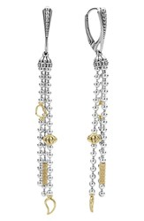Lagos Women's 'Caviar Icon' Linear Drop Earrings