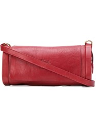 Il Bisonte Embossed Logo Cross Body Bag Red