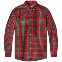 Portuguese Flannel Button Down Mohle Shirt Red Tartan