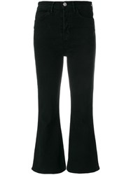Hudson Flared Cropped Jeans Black