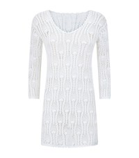Elizabeth Hurley Beach Julia Crochet Long Sleeve Dress Female