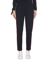 Whistles Elyse Side Stripe Pants Navy