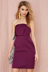 Nasty Gal Cameo Play With Fire Strapless Dress Purple