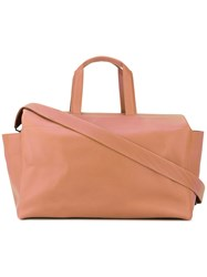 Isaac Reina 'Hours' Standard Bag Unisex Calf Leather One Size Nude Neutrals