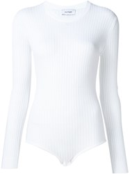Courra Ges Ribbed Bodysuit White
