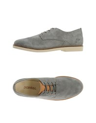 Pointer Footwear Lace Up Shoes Men Grey