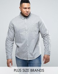 Another Influence Plus Chambrey Shirt Grey