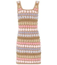 She Made Me Maala Crochet Shift Dress Multicoloured